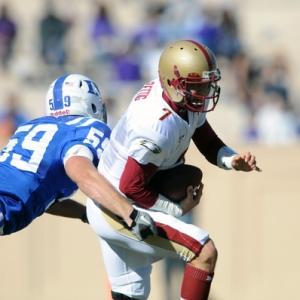 Boston College quarterback No. 7 Chase Rettig