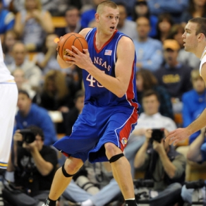 Cole Aldrich of the Kansas Jayhawks.