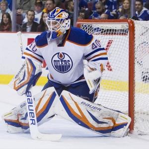 Goalie Devan Dubnyk of the Oilers