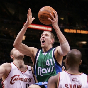 Dirk Nowitski of the Dallas Mavericks.