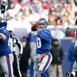 New York Giants quarterback Eli Manning.