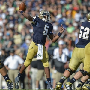 Notre Dame Fighting Irish quarterback Everett Golson
