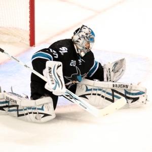 San Jose Sharks goalie Evgeni Nabokov