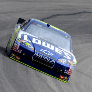 Jimmy Johnson in the No. 48 Lowe's Chevrolet