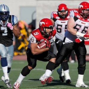 Calgary Stampeders' running back Jon Cornish