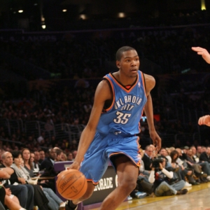 Kevin Durant of the Oklahoma City Thunder.