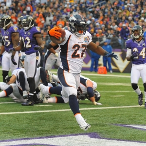 The Denver Broncos' Knowshown Moreno