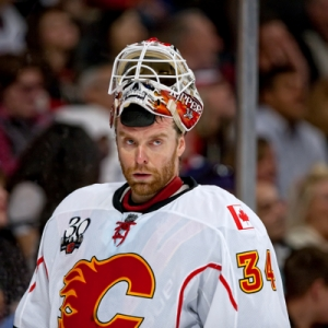 Calgary Flames goalie Miikka Kiprusoff