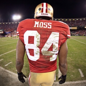 Wide receiver Randy Moss of the San Francisco 49ers