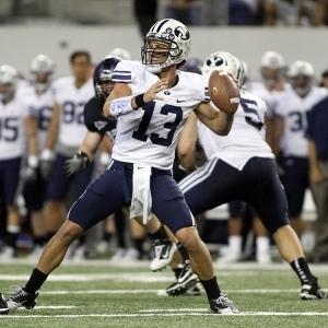 Brigham Young Cougars quarterback Riley Nelson