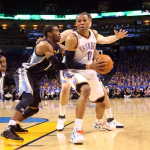 Oklahoma City Thunder guard Russell Westbrook