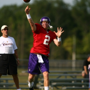 Sage Rosenfels of the Minnesota Vikings
