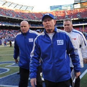 New York Giants head coach Tom Coughlin