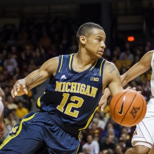 The Michigan Wolverines Trey Burke