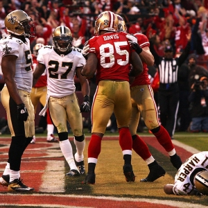 San Francisco 49ers tight end Vernon Davis