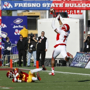 Fresno State wide receiver Aaron Peck