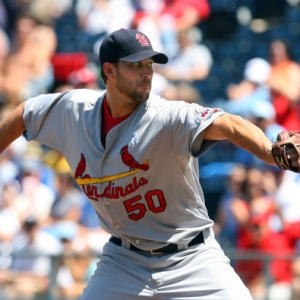 Adam Wainwright, pitcher for the St. Louis Cardinals.