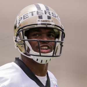 New Orleans Saints running back Adrian Peterson