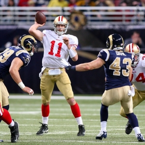 San Francisco 49ers quarterback Alex Smith