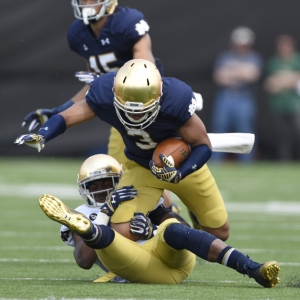 Notre Dame Fighting Irish wide receiver Amir Carlisle