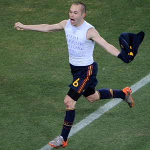 Andres Iniesta of Spain