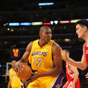 Andrew Bynum and the Lakers face the Nuggets tonight in Game 2 of the Western Conference Finals.