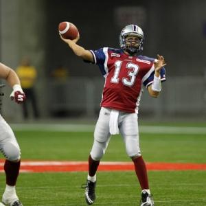 Montreal Alouettes' quarterback Anthony Calvillo