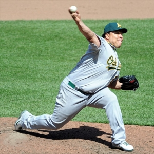 Oakland Athletics starting pitcher Bartolo Colon
