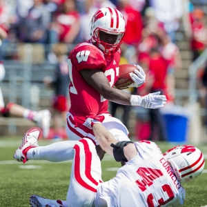 Wisconsin Badgers running back Bradrick Shaw