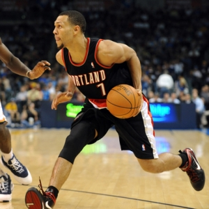 Portland Trailblazers guard Brandon Roy