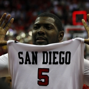 San Diego State Aztecs center Brian Carlwell