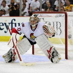Ottawa Senators goalie Brian Elliott