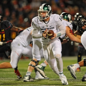 Michigan State Spartans quarterback Brian Lewerke