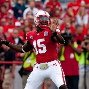 Brion Carnes #15 of the Nebraska Cornhuskers