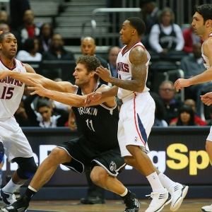 The Brooklyn Nets' Brook Lopez