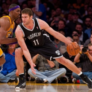 Center Brook Lopez of the Brooklyn Nets