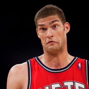 Center Brook Lopez of the New Jersey Nets
