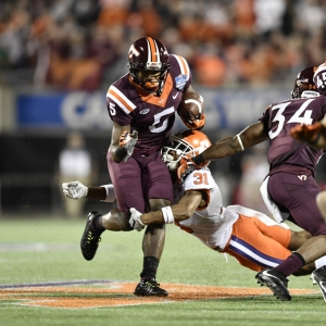 Virginia Tech University wide receiver Cam Phillips