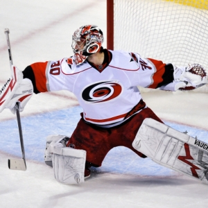 Carolina Hurricanes' goaltender Cam Ward