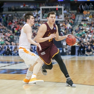 Cameron Krutwig of the Loyola-Chicago Ramblers