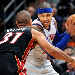 The New York Knicks' Carmelo Anthony