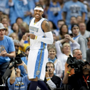 The Denver Nuggets' Carmelo Anthony.
