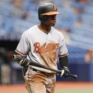 Baltimore Orioles center fielder Cedric Mullins