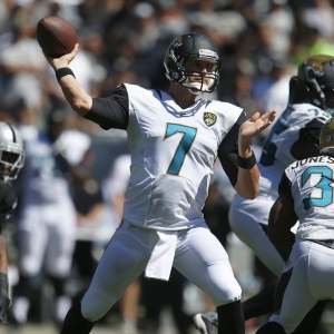 Jacksonville Jaguars starting quarterback Chad Henne
