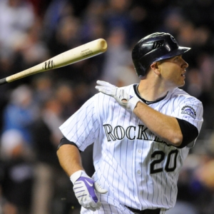 Colorado Rockies catcher Chris Iannetta