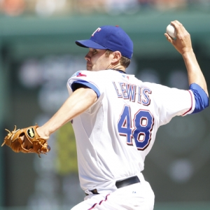 Texas Rangers starting pitcher Colby Lewis