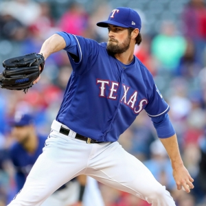 Texas Rangers starting pitcher Cole Hamels