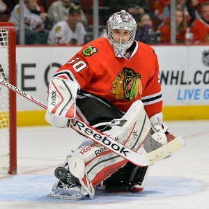 Chicago Blackhawks goalie Corey Crawford