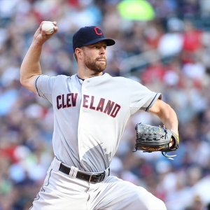 Indians pitcher Corey Kluber