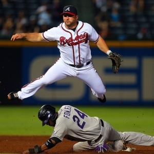 Atlanta Braves second baseman Dan Uggla